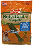 Nylabone Nutri Dent Petite Chicken Flavored Dental Bone Dog Treat, 78 Count