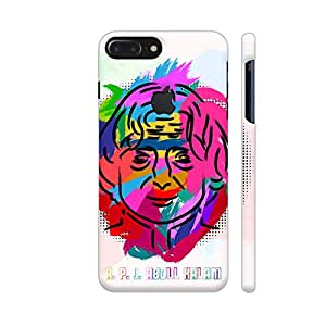 Colorpur APJ Abdul Kalam Painting In Multicolor Designer Mobile Phone Case Back Cover For Apple iPhone 7 plus with hole for logo   Artist: Designer Chennai
