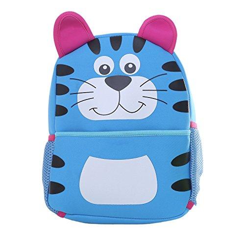DonDon Zaino per bambini unisex con gatto blu 33 x 26 x 13 cm