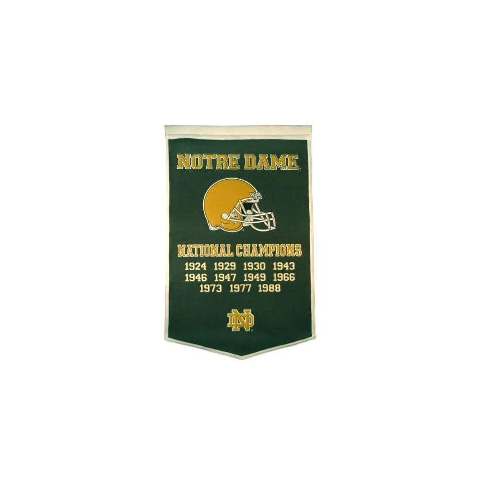 Notre Dame Fighting Irish  Football  Green Dynasty Banner