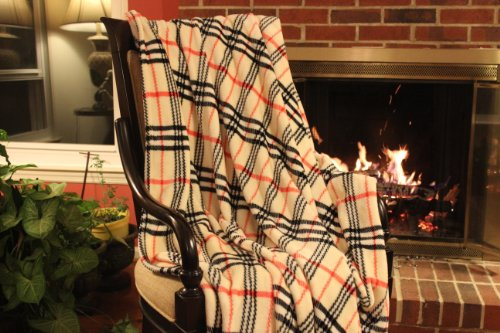 "Tache 80"" X 90"" Tartan Plaid Super Soft Warm Ritz Throw Blanket front-208562"