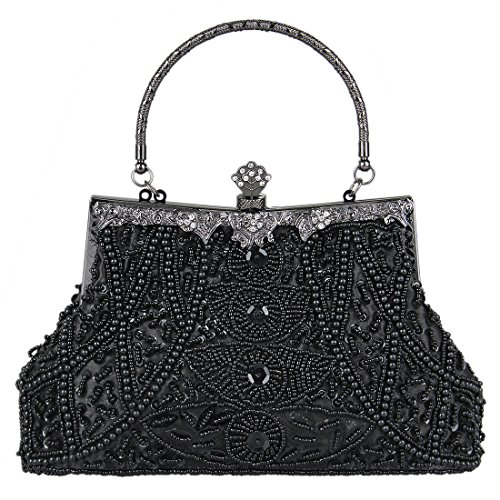 Ecosusi Exquisite Seed Bead Sequined Party Clutch