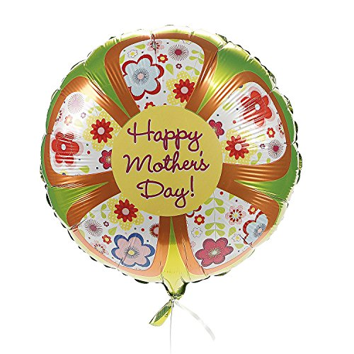 """Happy Mother's Day"" Flower Mylar Balloons (3 Pcs. Per Set) 18"" - 1"