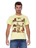 New Caro Camiseta Manga Corta Row Edge (Amarillo)