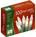 Noma/Inliten-Import 40004-88 Christmas String-to-String Light Set, Clear, 100-Ct.