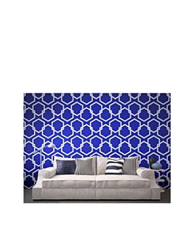 Tempaper Designs Honeycomb Self-Adhesive Temporary Wallpaper, Deep Blue, 20.5 x 33'