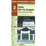 Valle del rio Aragón - mapa excursionista 1:40.000 (Mapas Excursionistas Coedi)