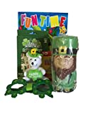 Gift Set St. Patrick s Day Leprechaun Cup, Plastic Glasses, Fun Time Coloring Book,crayons, 4 Plush White Bear, 30 Tattoos 6pc Bundle
