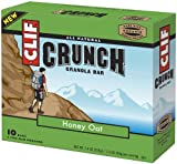 Clif Crunch Bar, Granola Bar Honey Oat, 1.5-Ounce, 10-Count
