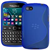 Blue S Curve XYLO-GEL Skin / Case / Back Cover for the BlackBerry 9720 Mobile Phone.