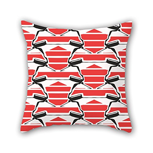 PILLO Pillowcase Of Geometry,for Drawing Room,monther,wedding,kids Room,bar Seat 18 X 18 Inches / 45 By 45 Cm(both Sides)