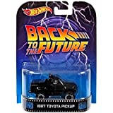 Hot Wheels 2014 Retro Series Back to the Future 1987 Toyota Pickup Die-Cast Vehicle (Color: Black, Tamaño: 1:64 Scale ~ 3