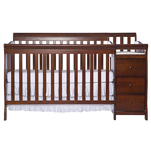 Dream On Me 5 in 1 Brody Convertible Crib with Changer, Espresso (Dream On Me Dresser Espresso compare prices)