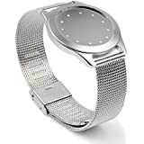 Kissmart® Stainless Steel Wrist Band Bracelet Strap Watch Band for Misfit Shine Activity and Sleep Monitor Does Not Fit for Misfit Flash Monitor (Stainless Silver)