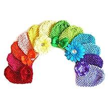 Ema Jane - Rainbow Waffle Crochet Beanies Hair Accessories (12 + 12, 24 Pack)