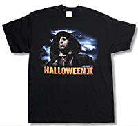 "Adult Halloween II ""Cloaked Michael"" Black T-Shirt"