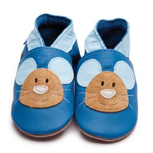 Inch Blue Boy Squeak Navy Baby Shoes
