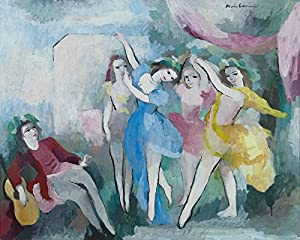 Marie Laurencin , titulo: Bailarinas 1939 ,Lithography of modern
