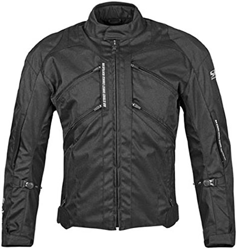 Speed and Strength Chain Reaction Men's Textile Street Racing Motorcycle Jacket - Black / 2X-Large