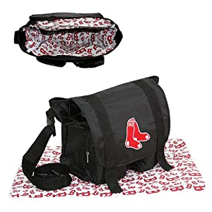 Boston Red Sox Logo Merchandise Black Sitter Diaper Bag