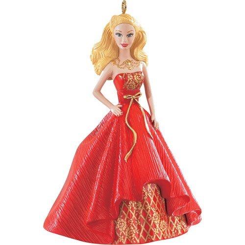 Holiday Barbie Caucasian 2nd in Series 2014 Carlton Heirloom Ornament