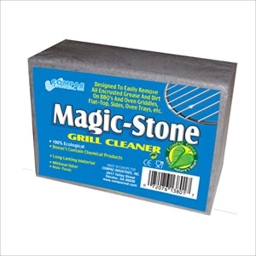 Compac's Magic-Stone Grill Cleaner Scrub, Scouring Brick/Barbecue Grill Brush/Barbecue Cleaner-Advanced Green Technology Easily Removes Stubborn Gri