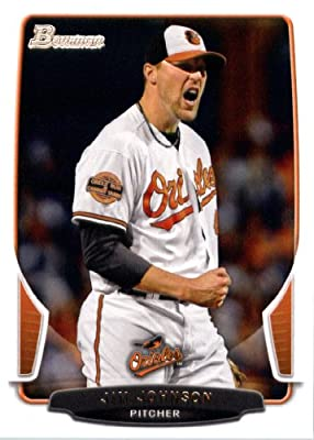 2013 Bowman Baseball Card #209 Jim Johnson - Baltimore Orioles - MLB Trading Card