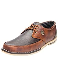 Guardian Tan Synthetic Leather Casual Shoes For Men