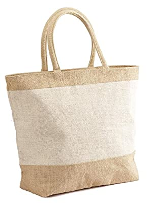 Eco-friendly Reusable Large Jute/ Burlap Natural Black Friday deals sale Bag with Zippered Closure - Holiday Gift bags