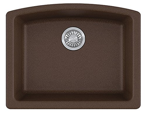 Franke ELG11022MOC Ellipse Granite Undermount Single Bowl Kitchen Sink, Mocha