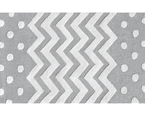 The Rug Market Zigzag Grey Area Rug  Size 4.7 by 7.7 ft.