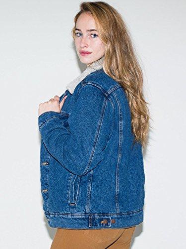 YCMDJ Autunno nuovo aggiunto tessuto imbottito collare agnello pelliccia giubbotto di jeans imbottito donne cappotto , picture color , l