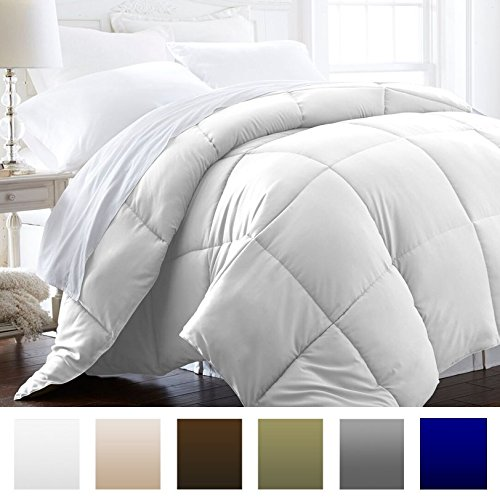 Beckham-Hotel-Collection-Lightweight-Luxury-Goose-Down-Alternative-Comforter-Hypoallergenic-TwinTwin-XL-WhiteSolid