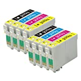 2 Compatible Sets of 4 XL Printer Ink Cartridges to replace T1636 / 16XL Series (8 Inks) - Black / Cyan / Magenta / Yellow for use in Epson Workforce WF-2010W, WF-2510WF, WF-2520NF, WF-2530WF, WF-2540WF (Capacity: 18.2ml Bk & 15ml C/M/Y)