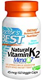 Doctor's Best Natural Vitamin K2 MenaQ7 Vegetable Capsules, 60-Count