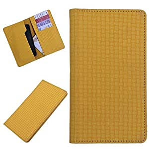 DSR Pu Leather case cover for Vivo Y35 (yellow)