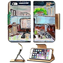 buy Apple Iphone 6 Plus Iphone 6S Plus Flip Pu Leather Wallet Case Oil Painting My Office On Paper Image 27901070 By Msd Customized Premium