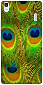 The Racoon Grip printed designer hard back mobile phone case cover for Lenovo K3 Note. (Bright Fea)