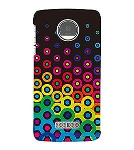 Button Pattern 3D Hard Polycarbonate Designer Back Case Cover for Motorola Moto Z :: Motorola Moto Z Droid