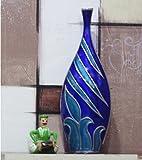 Kalaplanet Designer Flower Vase Blue - 14 Inches