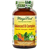 MegaFood - Balanced B Complex, Promotes Energy & Health of the Nervous System, 90 Tablets (Premium Packaging)