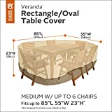 Classic Accessories 70922 Veranda Rectangular/Oval Patio Table & Chair Set Cover, Medium