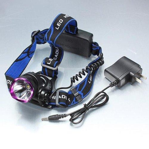 2000LM CREE XM-L T6 LED Zoomable Zoom Headlight Plus AC Charger.