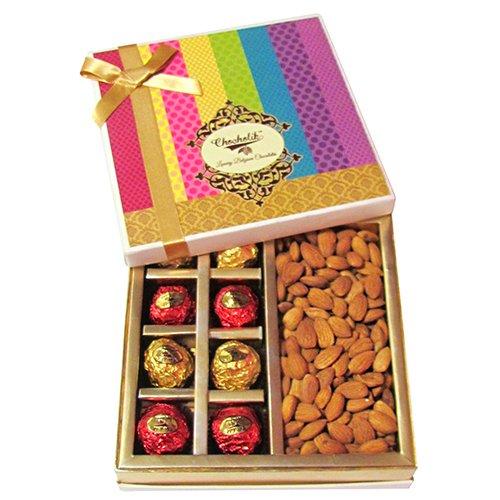 Chocholik - Chocholik's Luxury Chocolates With Amazing Almond Gift Wrapped Box - Diwali Gifts