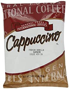 General Foods International Coffees French Vanilla Supreme Cappuccino Mix, 32-Ounce Packages (Pack of 6)