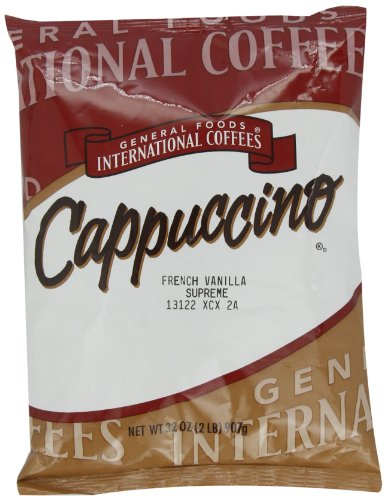 General Foods International Coffees French Vanilla Supreme Cappuccino Mix, 32-Ounce Packages (Pack of 6) (French Foods compare prices)