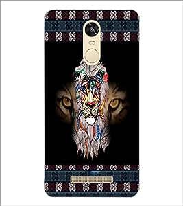 PrintDhaba Tiger face D-5665 Back Case Cover for XIAOMI REDMI NOTE 3 (MEDIATEK) (Multi-Coloured)