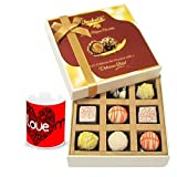 Valentine Chocholik Luxury Chocolates - Enjoyable Treat Of White Chocolates With Love Mug