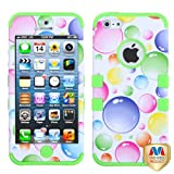 Product B009QO1H6M - Product title MYBAT IPHONE5HPCTUFFIM003NP Premium TUFF Case for iPhone 5 - 1 Pack - Retail Packaging - Rainbow Bigger Bubbles/Electric Green