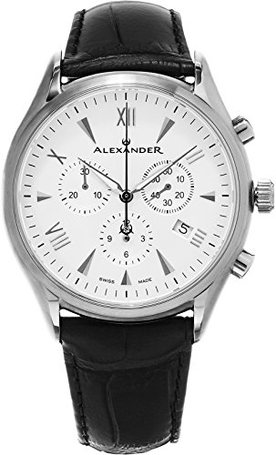 Alexander-Heroic-Pella-Wrist-Watch-For-Men-Black-Leather-Analog-Swiss-Watch-Silver-White-Dial-Mens-Chronograph-Watch-Stainless-Steel-Mens-Designer-Watch-A021-02